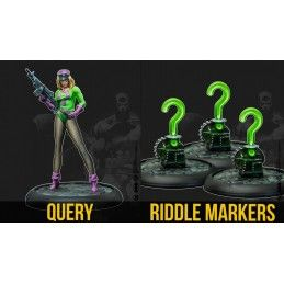 BATMAN MINIATURE GAME - THE RIDDLER QUIZMASTERS BAT-BOX MINI RESIN STATUE