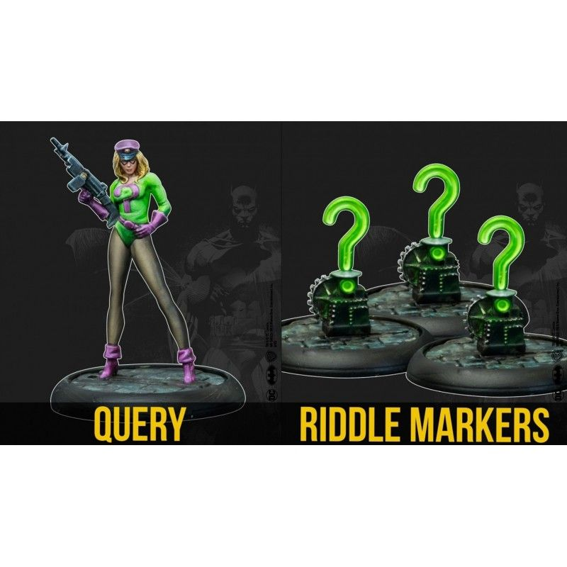 BATMAN MINIATURE GAME - THE RIDDLER QUIZMASTERS BAT-BOX MINI RESIN STATUE KNIGHT MODELS