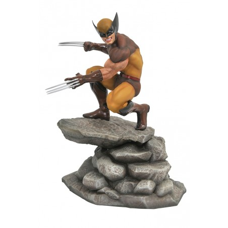 MARVEL GALLERY - WOLVERINE BROWN COSTUME STATUE FIGURE