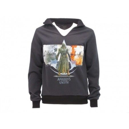 FELPA HOODIE ASSASSIN'S CREED UNITY GRIGIA