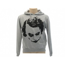 FELPA HOODIE JOKER VOLTO WHY SO SERIOUS GRIGIA