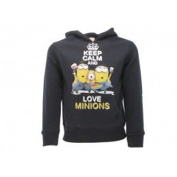 FELPA HOODIE CATTIVISSIMO ME KEEP CALM AND LOVE MINIONS BLU
