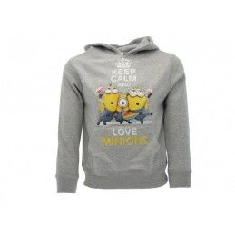FELPA HOODIE CATTIVISSIMO ME KEEP CALM AND LOVE MINIONS GIALLA