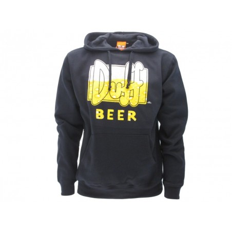 FELPA HOODIE THE SIMPSONS DUFF BEER LOGO BOLLE BLU NAVY