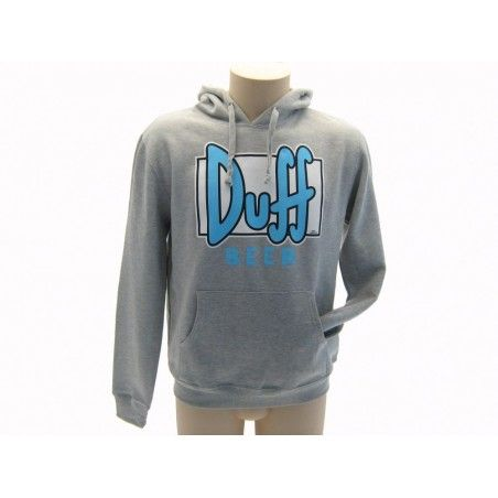 FELPA HOODIE THE SIMPSONS DUFF BEER LOGO AZZURRO GRIGIA