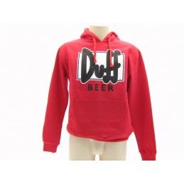 FELPA HOODIE THE SIMPSONS DUFF BEER LOGO ROSSA