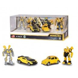 DICKIE TOYS TRANSFORMERS BUMBLEBEE 1/64 DIECAST MODELS 4-PACK ACTION FIGURE