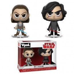 STAR WARS VYNL VINYL FIGURES 2-PACK REY AND KYLO 10 CM  FUNKO