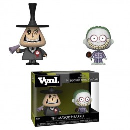 NIGHTMARE BEFORE CHRISTMAS VYNL VINYL FIGURES 2-PACK MAYOR AND BARREL 10 CM FUNKO