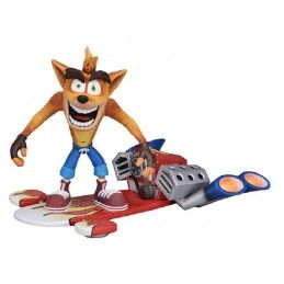 NECA CRASH BANDICOOT WITH JET BOARD DELUXE ACTION FIGURE