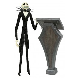 THE NIGHTMARE BEFORE CHRISTMAS - JACK COFFIN WITH PODIUM DOLL ACTION FIGURE