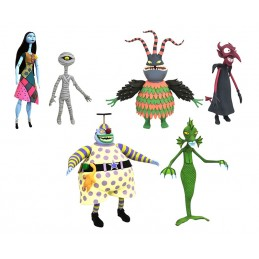 NIGHTMARE BEFORE CHRISTMAS SERIES 6 COMPLETA SET 3 ACTION FIGURE DIAMOND SELECT