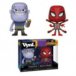 AVENGERS INFINITY WAR VYNL VINYL FIGURES 2-PACK THANOS AND IRON SPIDER 10 CM FUNKO