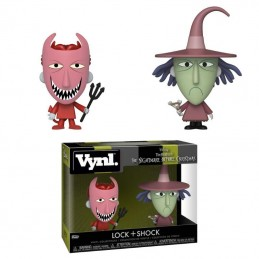 NIGHTMARE BEFORE CHRISTMAS VYNL VINYL FIGURES 2-PACK LOCK AND SHOCK 10 CM FUNKO