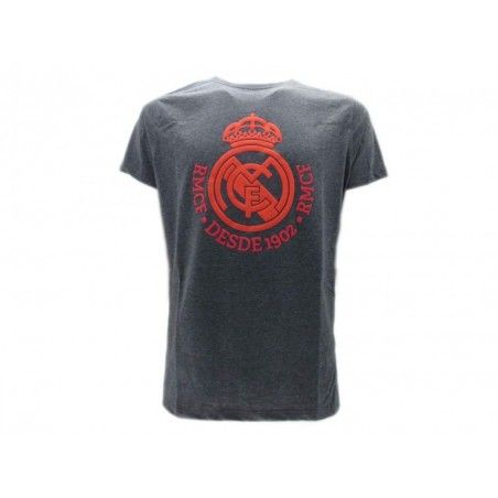 MAGLIA T SHIRT DONNA UFFICIALE REAL MADRID GRIGIA