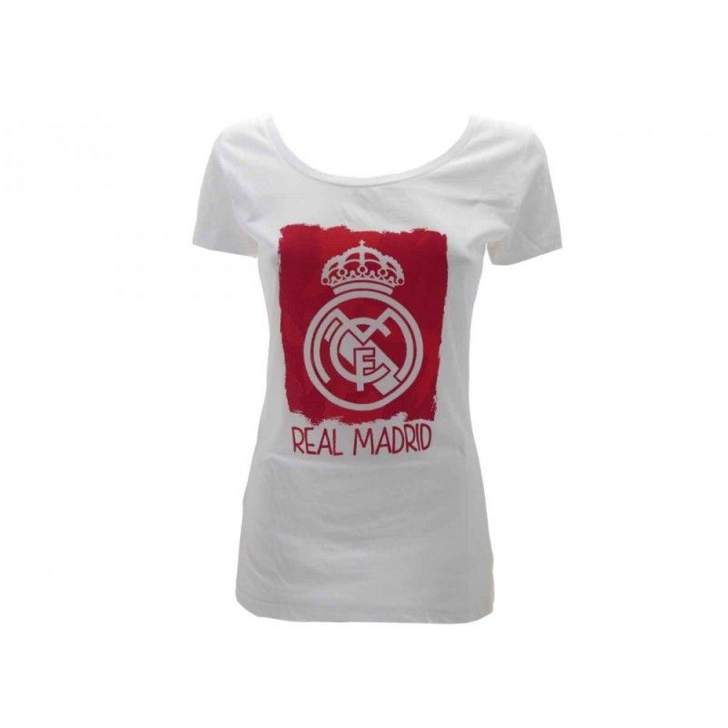 MAGLIA T SHIRT DONNA UFFICIALE REAL MADRID BIANCA