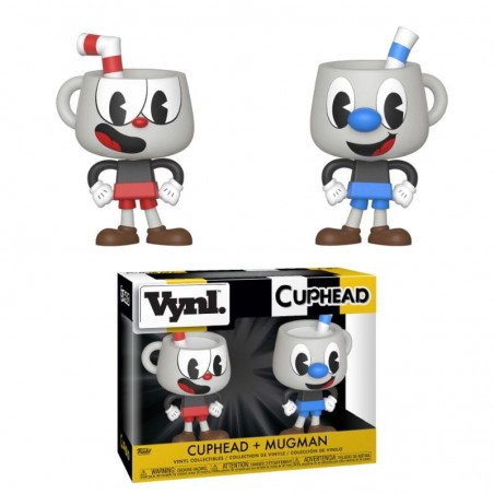 CUPHEAD VYNL VINYL FIGURES 2-PACK CUPHEAD AND MUGMAN 10 CM