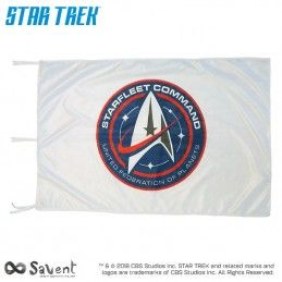 STAR TREK DISCOVERY STARFLEET COMMAND WHITE FLAG BANDIERA REPLICA SAVENT
