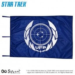 SAVENT STAR TREK DISCOVERY UFP BLUE FLAG BANDIERA REPLICA