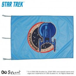 STAR TREK ENTERPRISE LIGHT BLUE FLAG BANDIERA REPLICA SAVENT