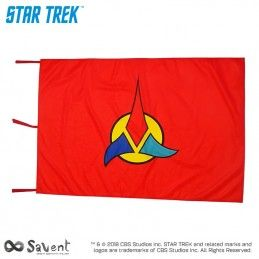 SAVENT STAR TREK KLINGON RED FLAG BANDIERA REPLICA
