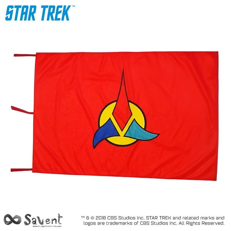 STAR TREK KLINGON RED FLAG BANDIERA REPLICA SAVENT