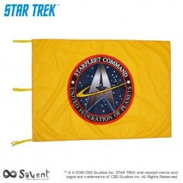 STAR TREK STARFLEET COMMAND YELLOW FLAG BANDIERA REPLICA SAVENT