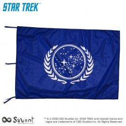 STAR TREK UNITED FEDERATION OF PLANET BLUE FLAG BANDIERA REPLICA