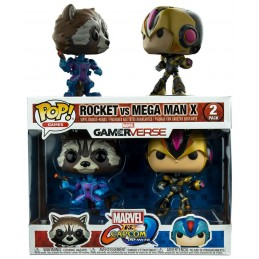 MARVEL VS. CAPCOM INFINITE POP! GAMES VINYL FIGURE 2-PACK ROCKET VS. MEGAMAN X 9 CM