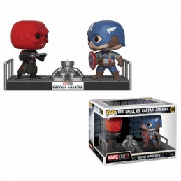 MARVEL POP! MOVIE MOMENTS VINYL BOBBLE-HEAD 2-PACK CAPTAIN AMERICA AND RED SKULL 9 CM