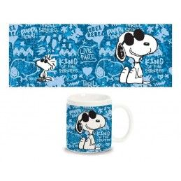 SNOOPY GLASSES MUG TAZZA CERAMICA
