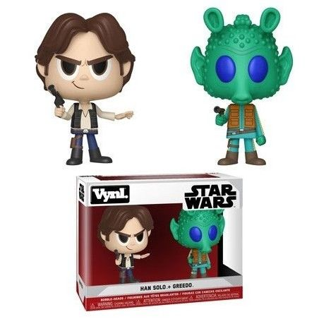 STAR WARS VYNL VINYL FIGURES 2-PACK HAN SOLO AND GREEDO 10 CM