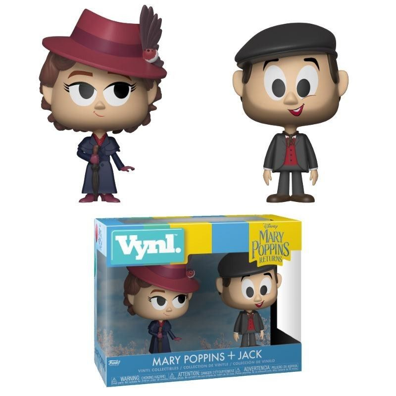 MARY POPPINS 2018 VYNL VINYL FIGURES 2-PACK MARY AND JACK THE LAMPLIGHTER 10 CM