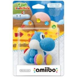 NINTENDO WII U WIIU AMIIBO LIGHT BLUE AZZURRO YARN YOSHI IN LANA