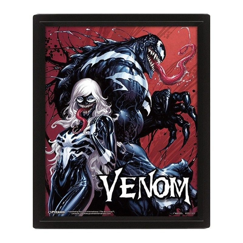 VENOM LENTICULAR 3D POSTER 25X20CM PYRAMID INTERNATIONAL
