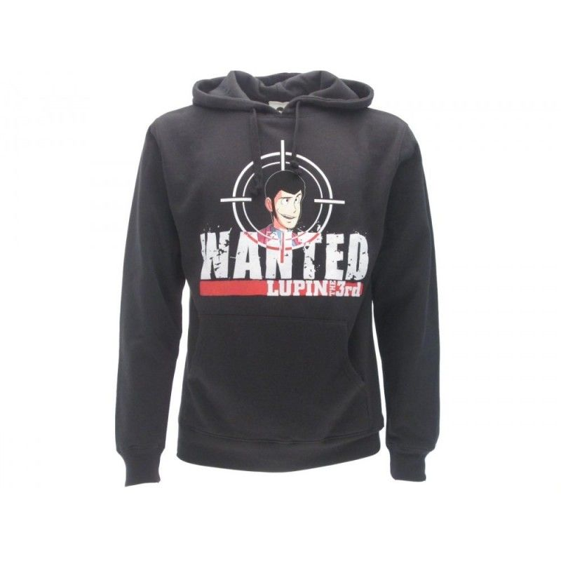 FELPA HOODIE LUPIN THE 3RD WANTED NERA