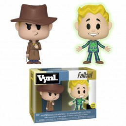FALLOUT VYNL VINYL FIGURES 2-PACK ADAMANTIUM SKELETON AND MYSTERIOUS STRANGER 10 CM  FUNKO