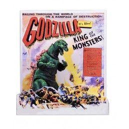 GODZILLA 1956 - GODZILLA MOVIE U.S.A. POSTER ACTION FIGURE