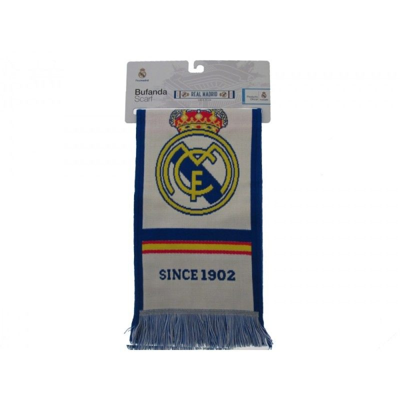 SCIARPA SCARF REAL MADRID UFFICIALE BIANCA