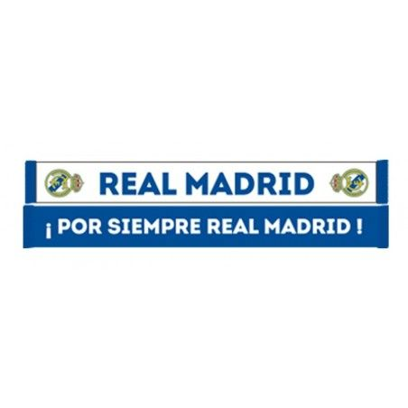 SCIARPA SCARF REAL MADRID UFFICIALE POR SIEMPRE BIANCA BLU
