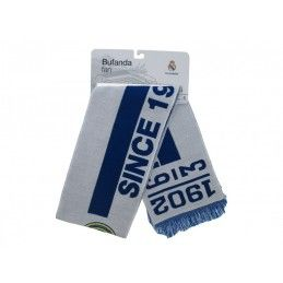 SCIARPA SCARF REAL MADRID UFFICIALE SINCE 1902 BIANCA