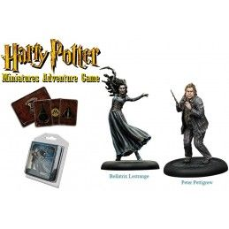 HARRY POTTER MINIATURE ADVENTURE GAME - BELLATRIX AND WORMTAIL PACK KNIGHT MODELS