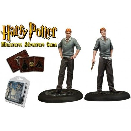HARRY POTTER MINIATURE ADVENTURE GAME - FRED AND GEORGE WEASLEY PACK