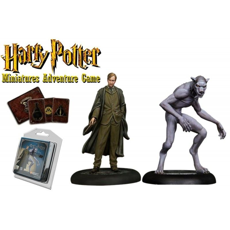 HARRY POTTER MINIATURE ADVENTURE GAME - REMUS LUPIN PACK KNIGHT MODELS