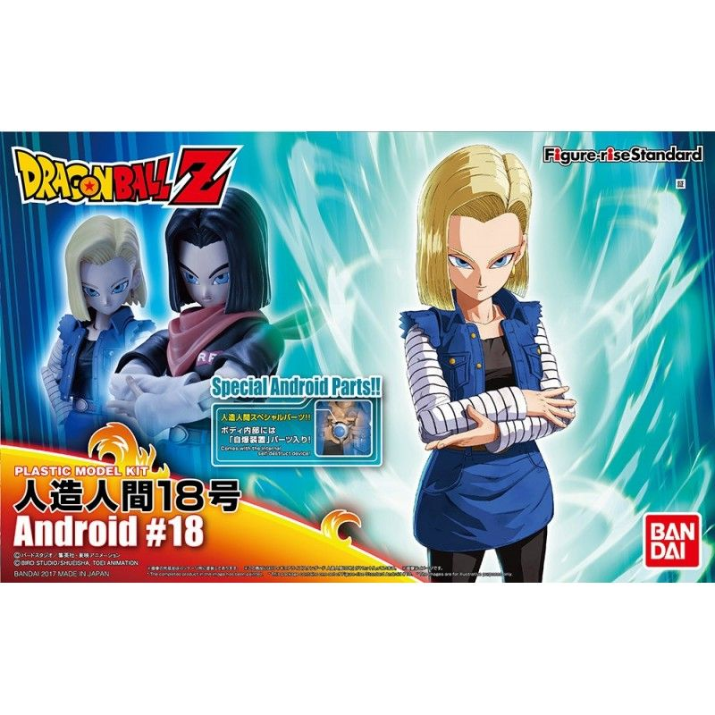 DRAGON BALL Z - FIGURE RISE ANDROID C-18 MODEL KIT ACTION FIGURE