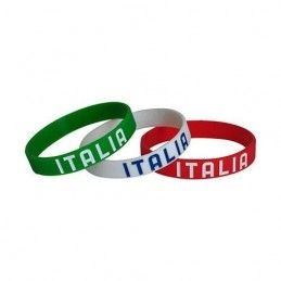 TRIS BRACCIALETTI WRISTBAND SILICONE ITALIA UFFICIALE