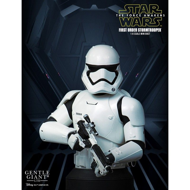 GENTLE GIANT STAR WARS THE FORCE AWAKENS - FIRST ORDER STORMTROOPER DELUXE BUST