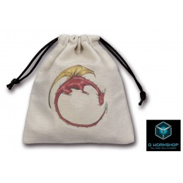 SACCHETTINO PER DADI DRAGON BEIGE DICE BAG Q WORKSHOP