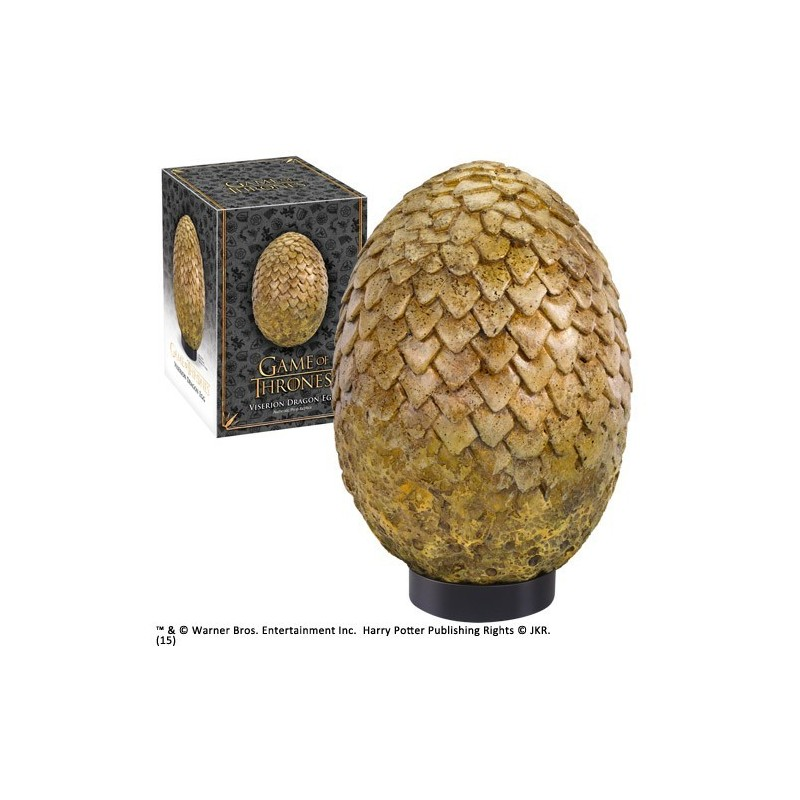 GAME OF THRONES - VISERION DRAGON EGG 20 CM REPLICA NOBLE COLLECTIONS