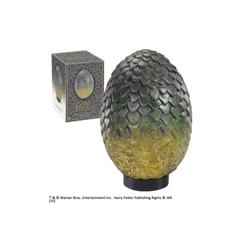 NOBLE COLLECTIONS GAME OF THRONES - RHAEGAL DRAGON EGG 20 CM REPLICA
